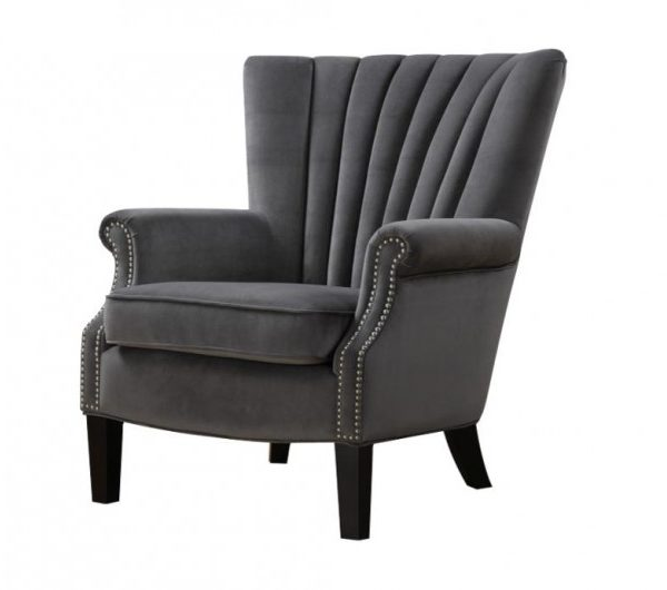 935 thickbox default Stratford Armchair Grey Velvet