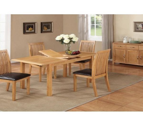 1288 thickbox default Hartford City Oak 4 Extension Dining Set