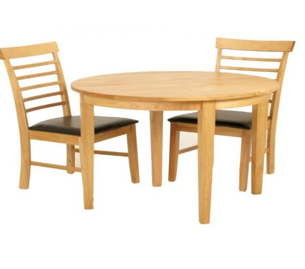 1297 thickbox default Hanover Half Moon Solid Hardwood Dining Set Table With 2 Chairs