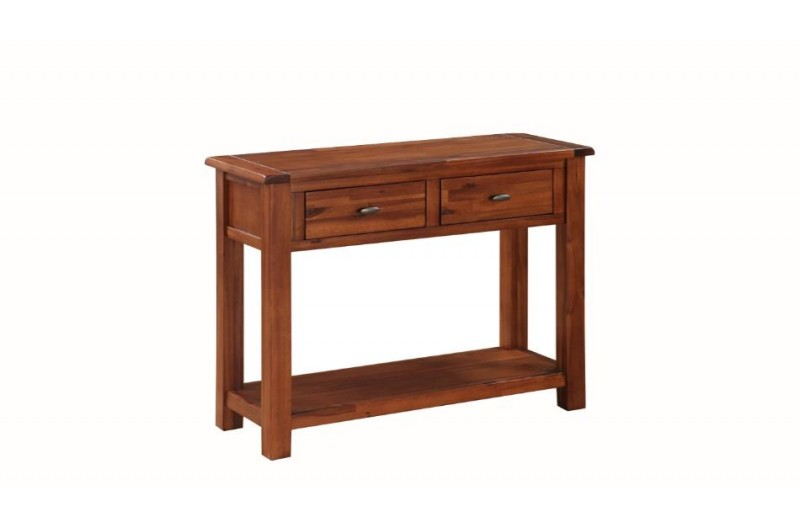 Hartford Acacia Large Hall Table With Drawers