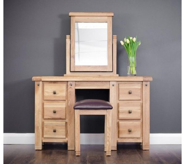 Donny 6 Drawer Dressing Table With Mirror And Stool