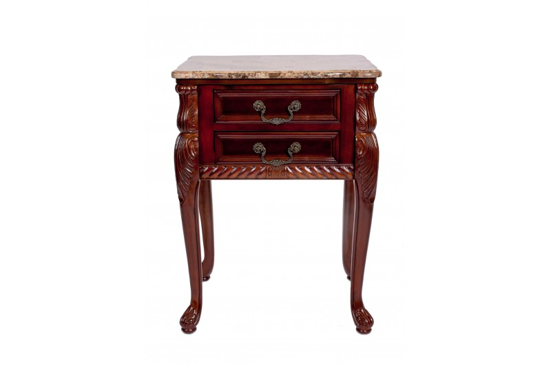 1740 thickbox default Mahogany Marble Top 2 Drawer