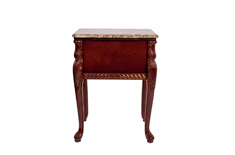 1742 thickbox default Mahogany Marble Top 2 Drawer