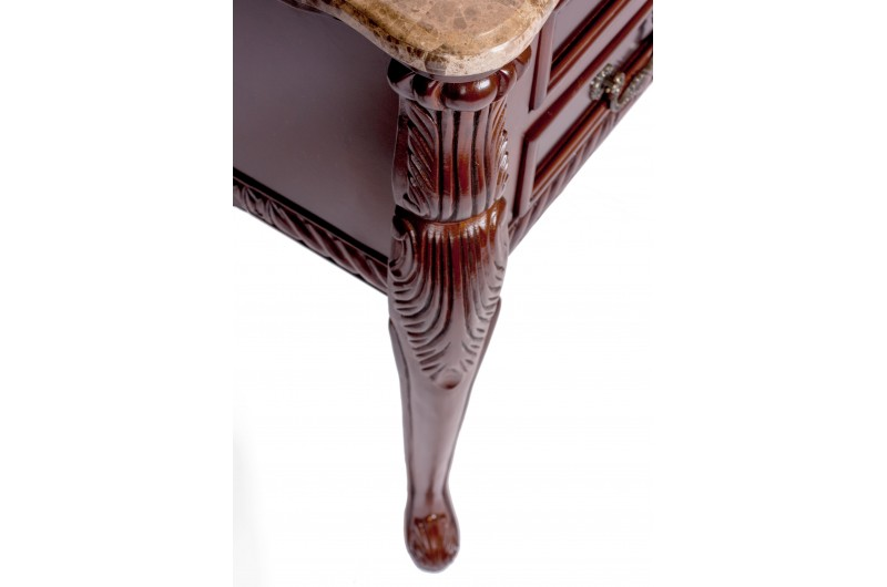 1744 thickbox default Mahogany Marble Top 2 Drawer