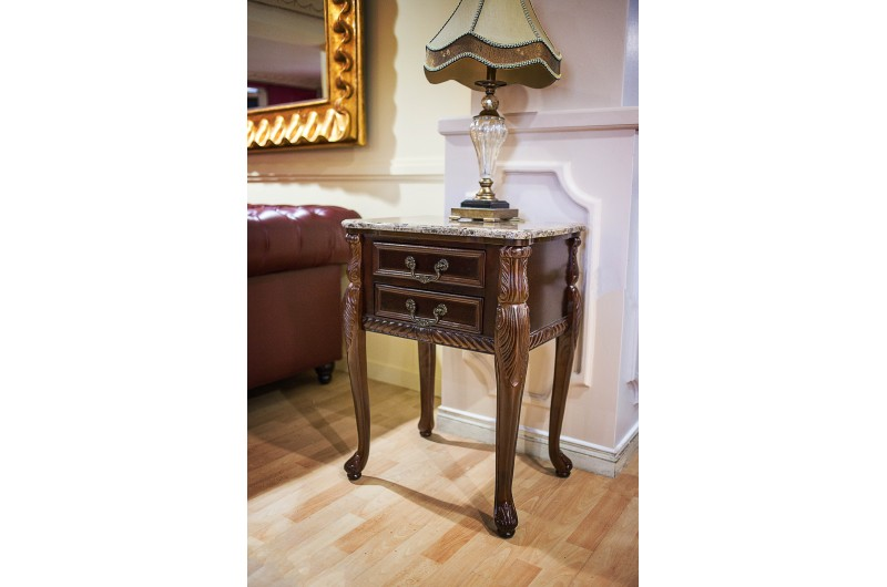1747 thickbox default Mahogany Marble Top 2 Drawer