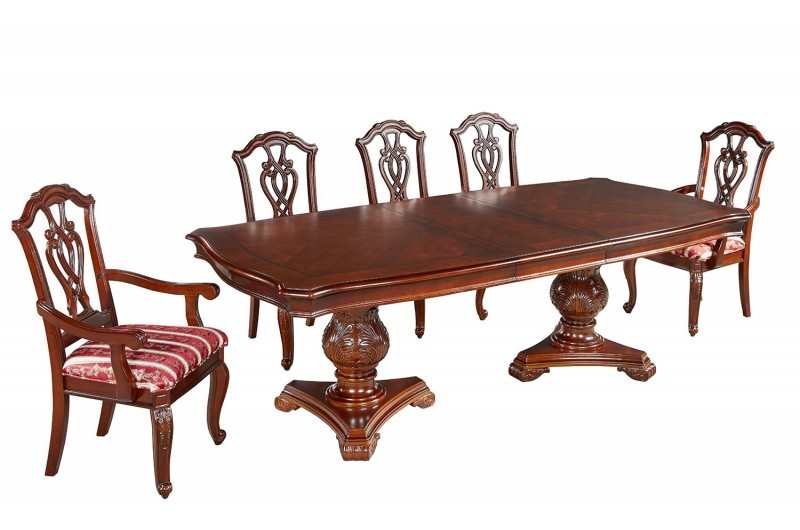 1798 thickbox default Marsais Mahogany Extendable Dining Table 6 Chairs