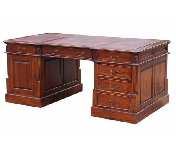Large Mahogany Partners Desk