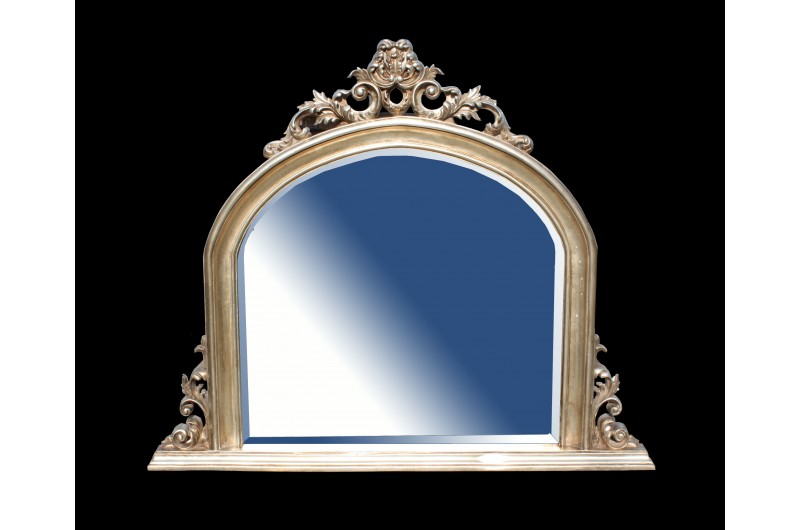 Overmantal Mirror Silver