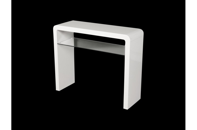 Atlantis Clarus Medium Console Table White