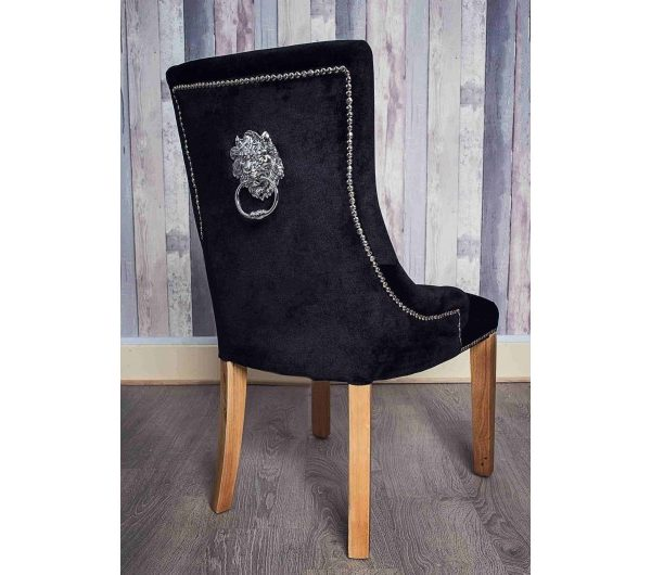 2278 thickbox default Lion Dining Chair Black Oak Leg