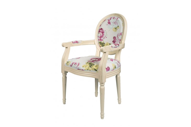 2357 thickbox default Louis Round Back Carver White Red Floral