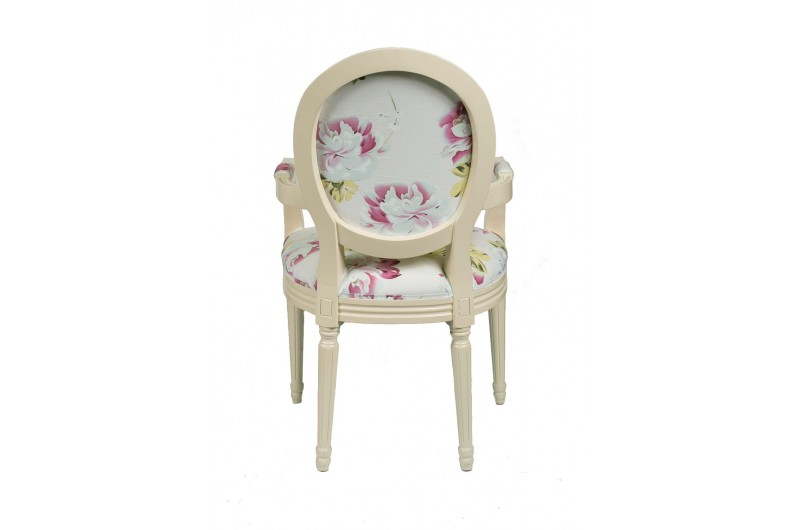 2358 thickbox default Louis Round Back Carver White Red Floral