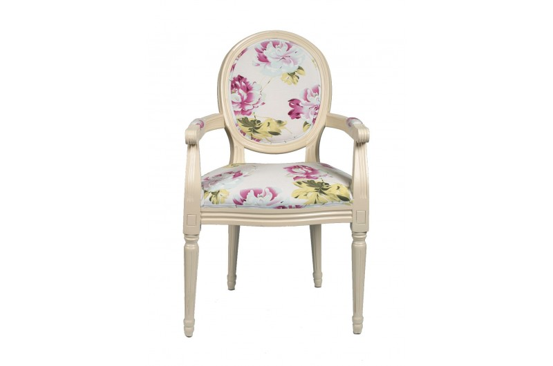 2363 thickbox default Louis Round Back Carver White Red Floral