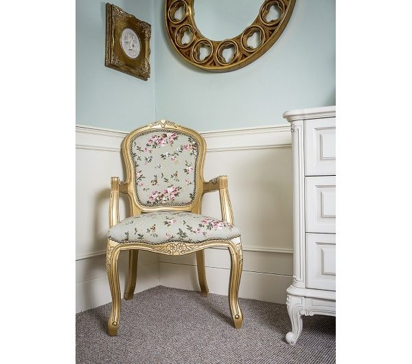 2375 thickbox default French Armchair GoldGreen Pink Floral