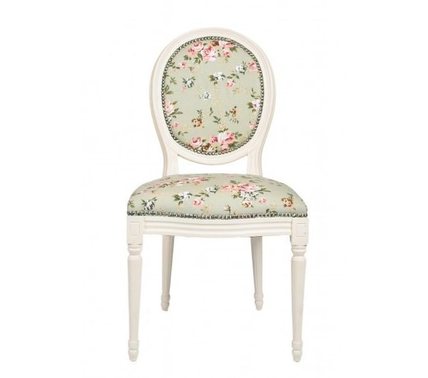 2656 thickbox default Louis Round Back IvoryGreen Floral