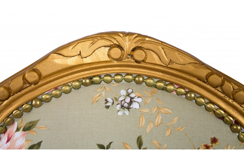2675 thickbox default Louis Round Back Carver Gold Green Pink Flowers