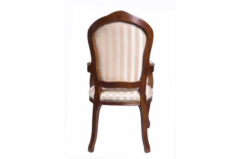 2680 thickbox default French Armchair Mahogany Gold Strip