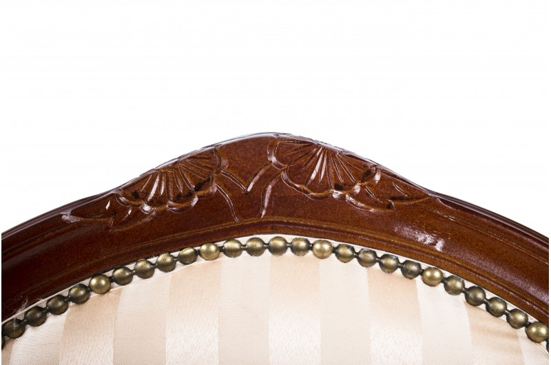 2681 thickbox default French Armchair Mahogany Gold Strip