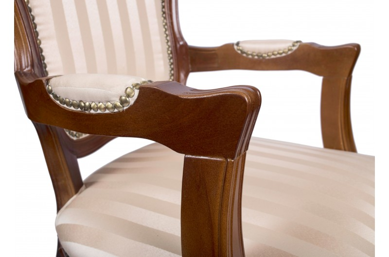 2682 thickbox default French Armchair Mahogany Gold Strip
