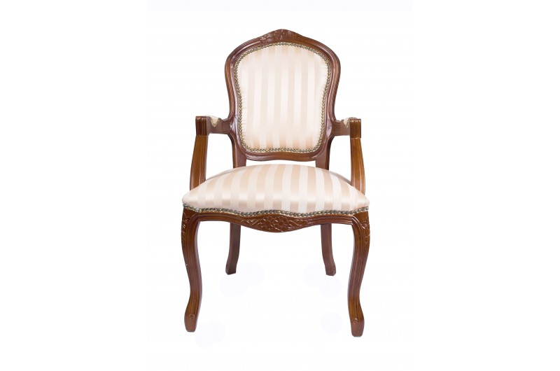2684 thickbox default French Armchair Mahogany Gold Strip