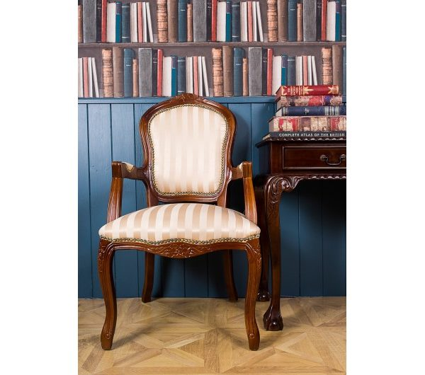 2685 thickbox default French Armchair Mahogany Gold Strip