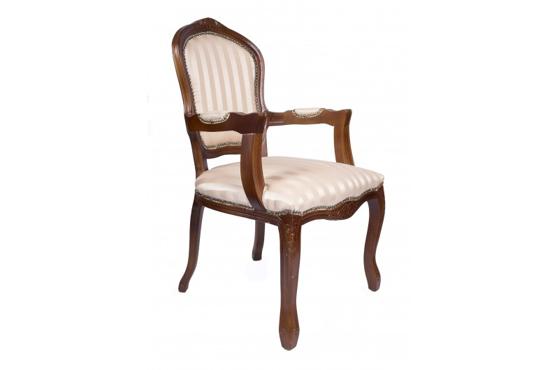 2686 thickbox default French Armchair Mahogany Gold Strip