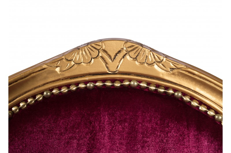 2753 thickbox default French Armchair Gold Red