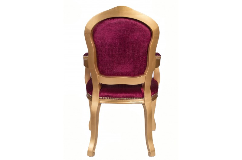 2759 thickbox default French Armchair Gold Red