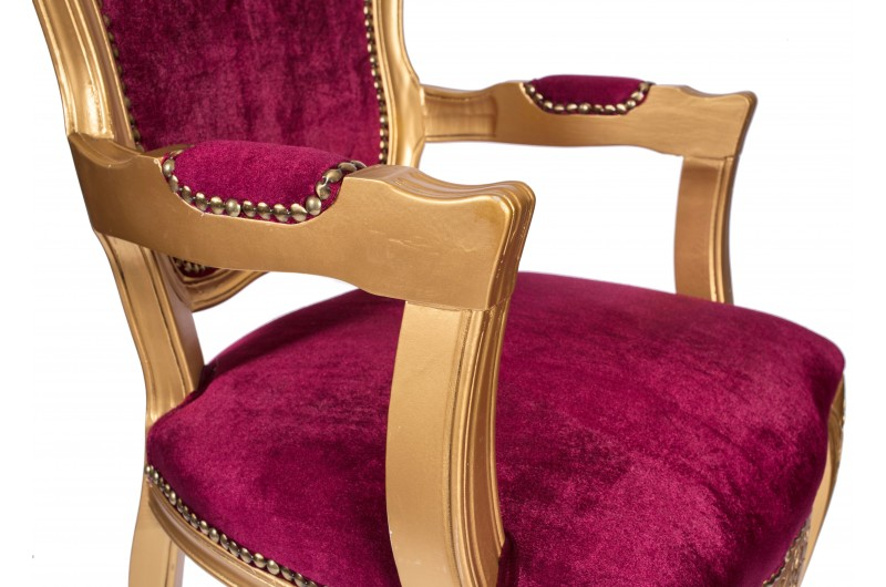 2760 thickbox default French Armchair Gold Red