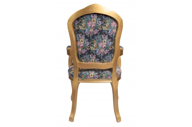 2782 thickbox default French Armchair Gold Floral