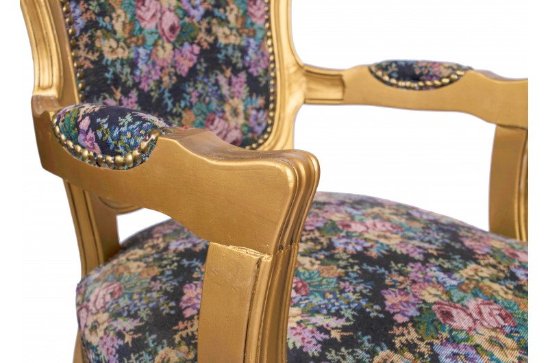 2783 thickbox default French Armchair Gold Floral