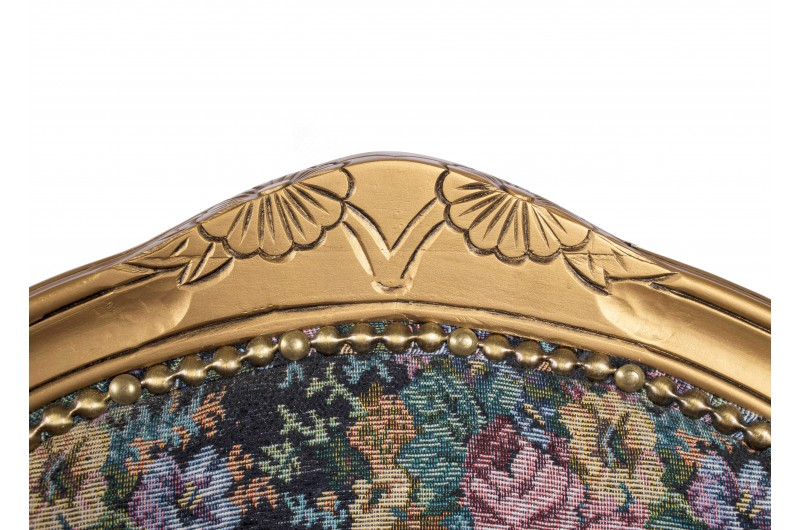 2784 thickbox default French Armchair Gold Floral