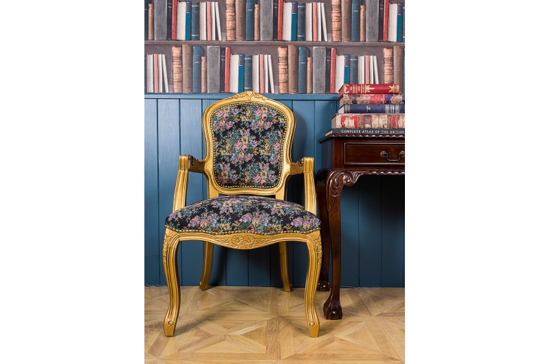 2788 thickbox default French Armchair Gold Floral