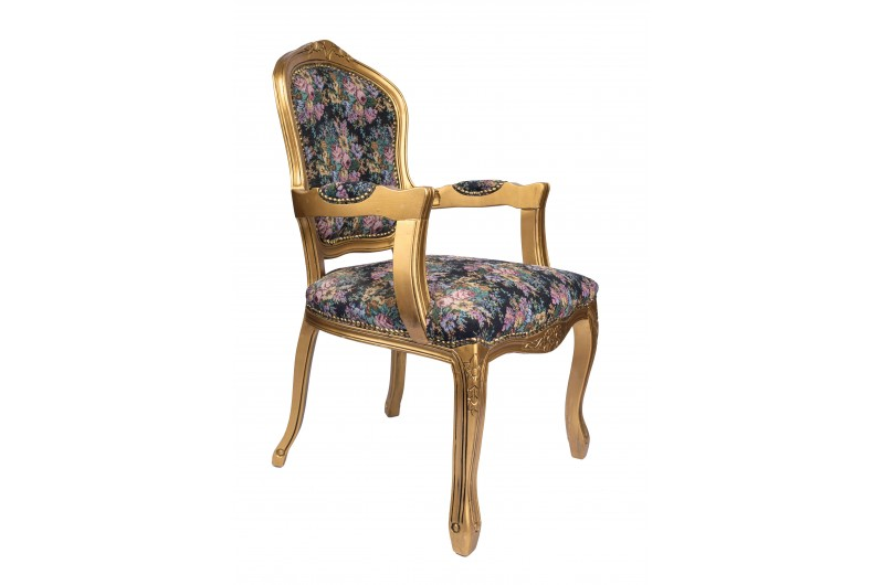 2789 thickbox default French Armchair Gold Floral