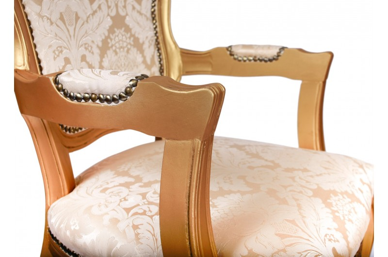 2819 thickbox default French Armchair Gold Damask