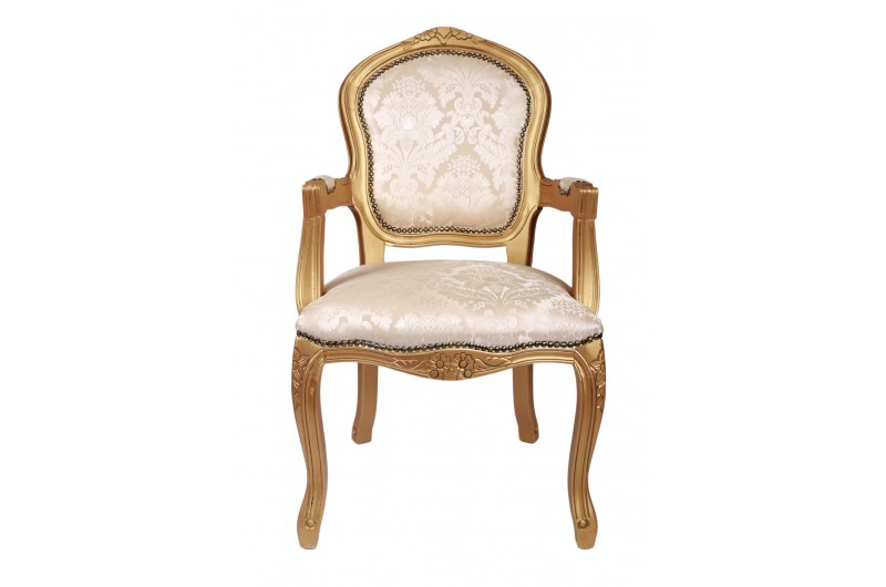 2822 thickbox default French Armchair Gold Damask