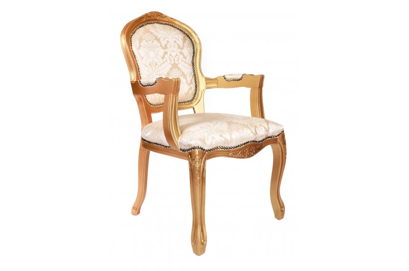 2823 thickbox default French Armchair Gold Damask