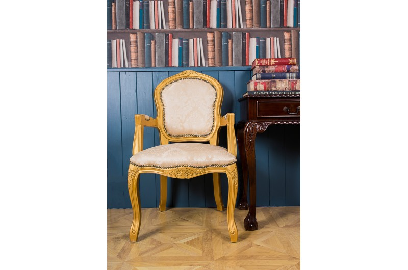 2824 thickbox default French Armchair Gold Damask