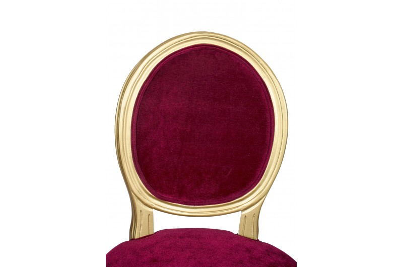 2864 thickbox default Louis Round Back Gold Red