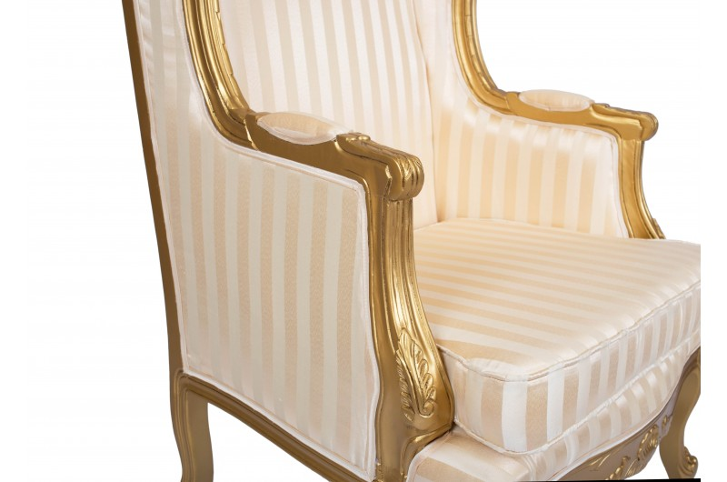 2890 thickbox default Queen Ann Wing Back Gold Gold Strip