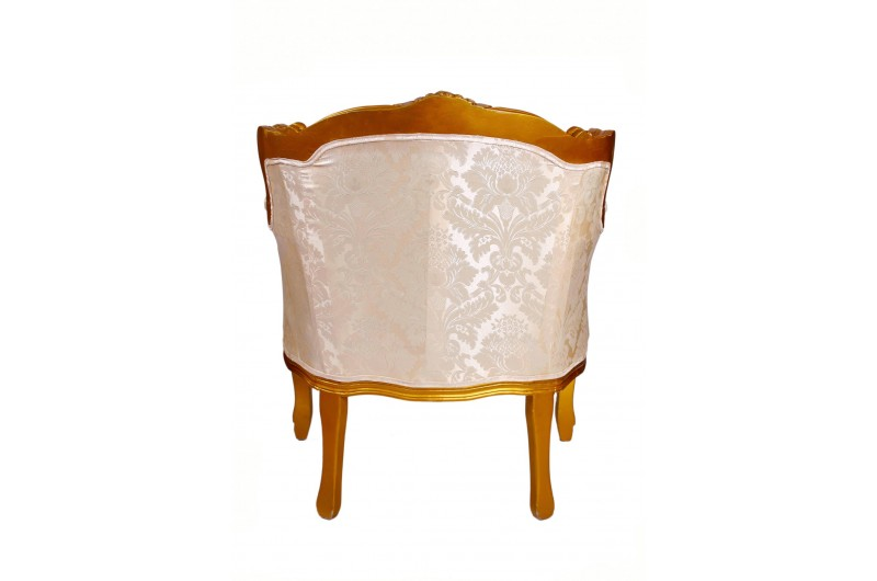 2915 thickbox default French Tub Chair Gold Damask