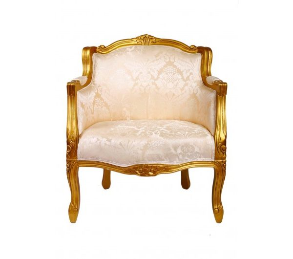 2919 thickbox default French Tub Chair Gold Damask