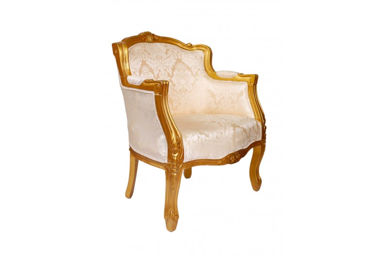 2920 thickbox default French Tub Chair Gold Damask