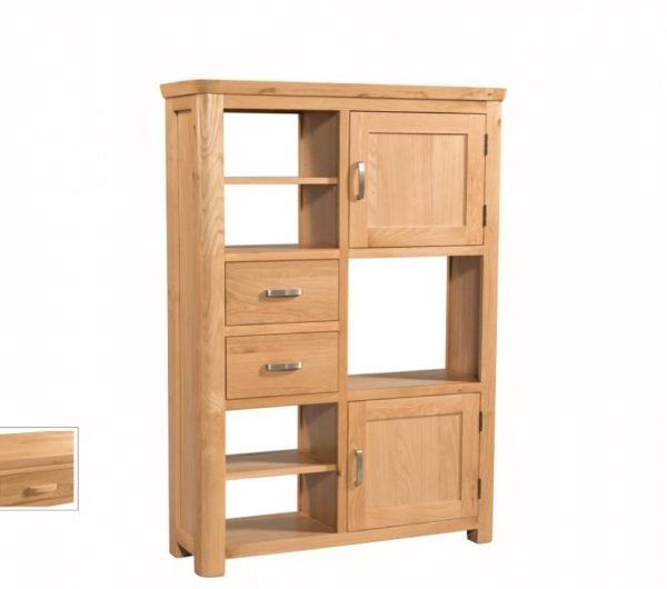 1057 thickbox default Treviso Oak High Display Unit