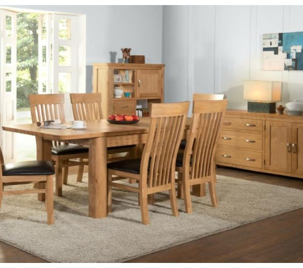 1252 thickbox default Treviso Oak 6 Extension Dining Set