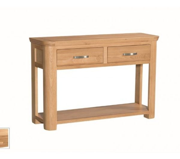 1485 thickbox default Treviso Oak Large Console Hall Table With Drawers