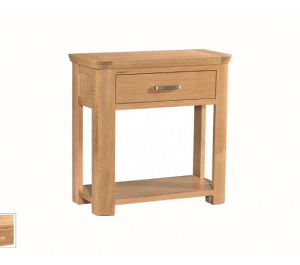 1486 thickbox default Treviso Oak Small Console Hall Table With Drawer