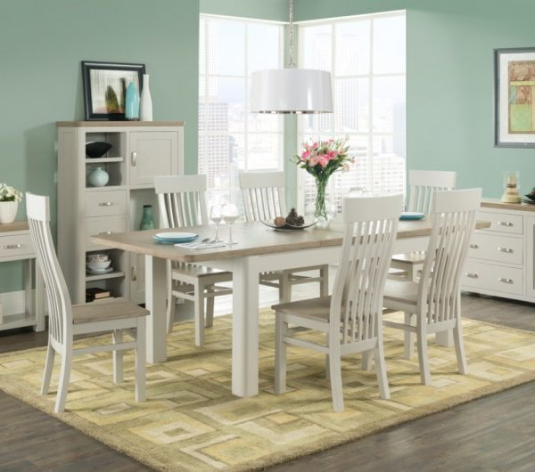 3849 thickbox default Treviso Painted 6 Extension Dining Set