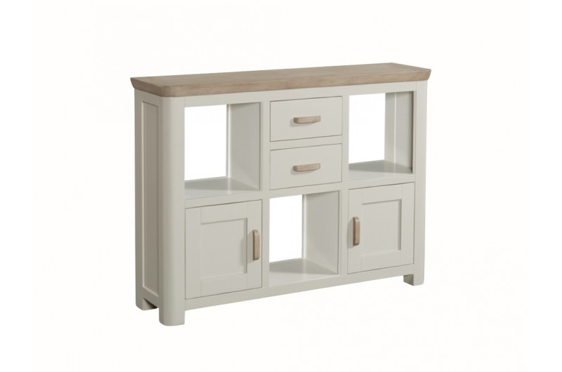 3853 thickbox default Treviso Painted Low Display Unit Wooden Handles