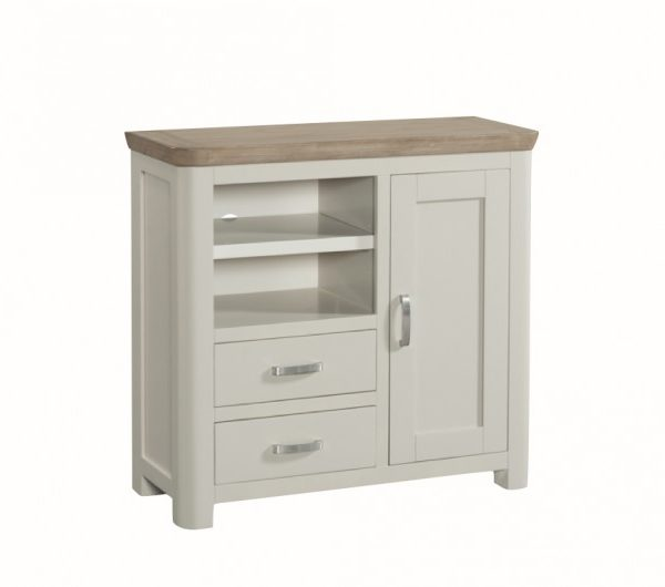 Treviso Painted Media Unit Metal Handles